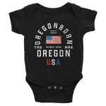 "Oregon USA - ""Old Glory"" - Infant Bodysuit"