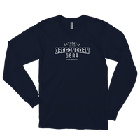 "Authentic 'Oregon Born"" Gear in White - Long Sleeve Tee - Oregon Born"