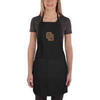 Oregon Born Monogram - GOLD STANDARD - Embroidered Apron
