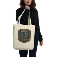 "Oregon Born - ""Get Out and Explore 2"" - Eco Tote Bag - Oregon Born"