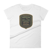 "Oregon Born - ""Get Out and Explore 2"" - Women's Short Sleeve T-Shirt - Oregon Born"