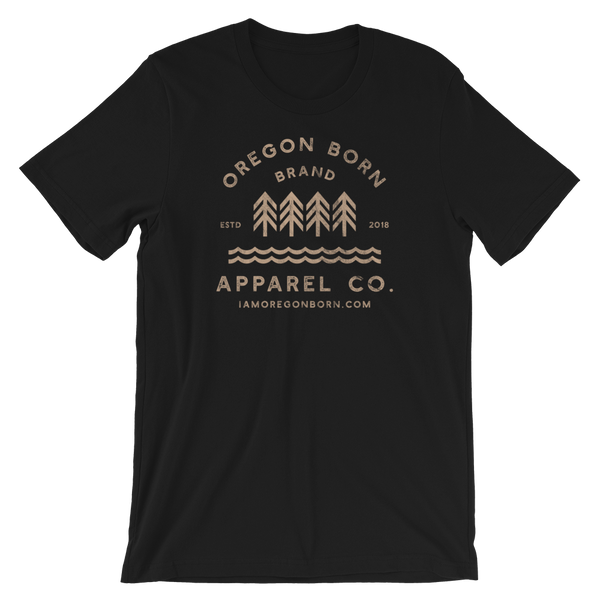 Oregon Born Brand Apparel Co. - Short-Sleeve Unisex Tee