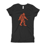 "Oregon Born -""Bigfoot"" in Orange - Girl's T-Shirt - Oregon Born"