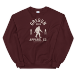 Oregon Born Apparel Co. w/ Bigfoot - Unisex Sweatshirt - Oregon Born