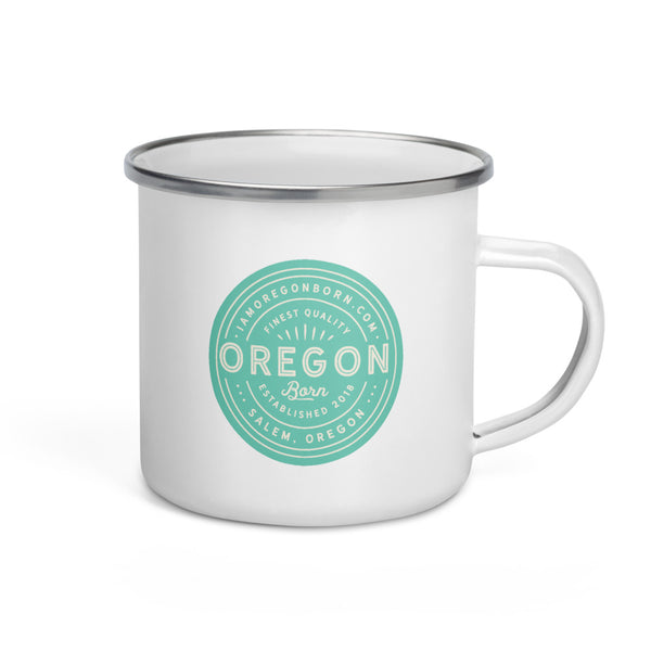 FINEST QUALITY (SEAFOAM) - Enamel Mug - Oregon Born