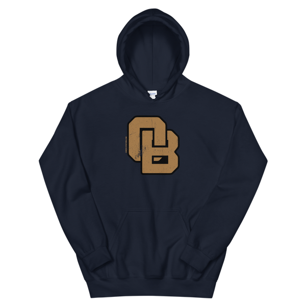 Oregon Born Monogram - GOLD STANDARD - Unisex Hoodie