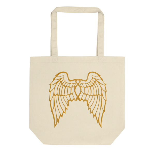"""She Flies"" State Motto with Wings (Double Sided) - Eco Tote Bag - Oregon Born"