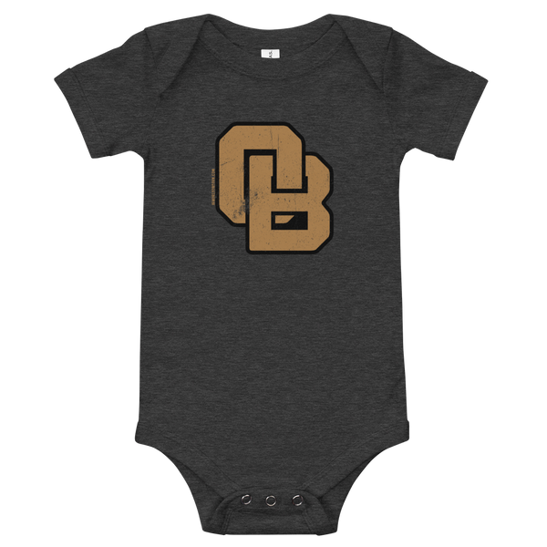 Oregon Born Monogram - GOLD STANDARD - Onesie