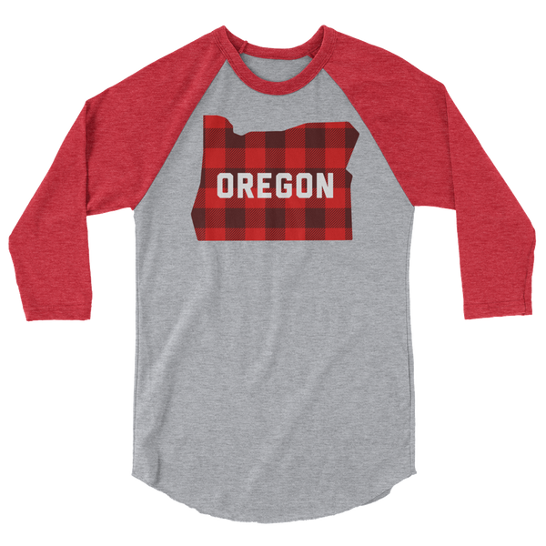 "Oregon ""Buffalo Plaid"" - 3/4 Sleeve Raglan Shirt"