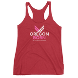 "Oregon Born ""She Flies"" - Women's Racerback Tank - Oregon Born"