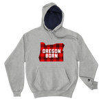 "Oregon Born ""Buffalo Plaid"" - Champion Hoodie - Oregon Born"