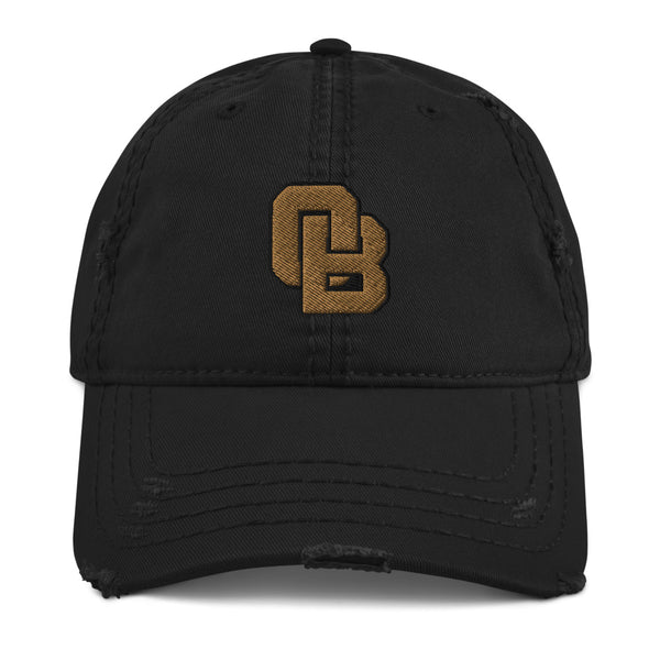 Oregon Born Monogram - GOLD STANDARD - Distressed Dad Hat