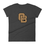 Oregon Born Monogram - GOLD STANDARD - Women's Short Sleeve T-Shirt