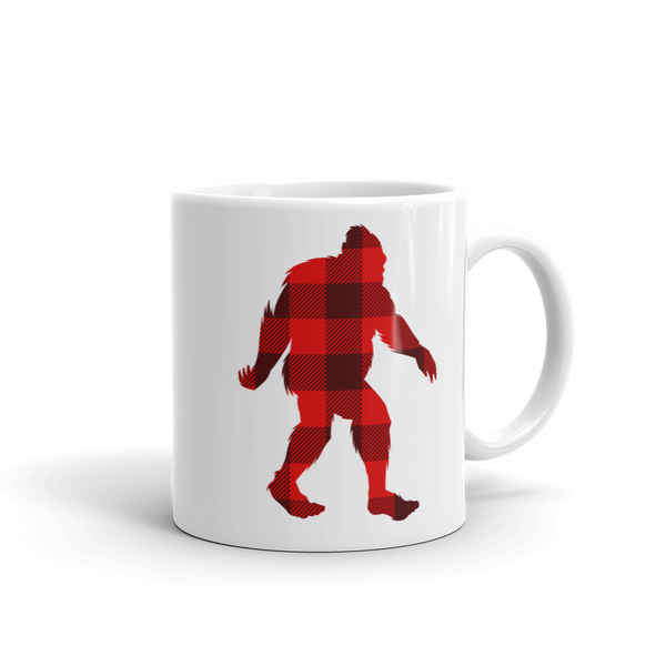 "Bigfoot ""Buffalo Plaid"" - Mug - Oregon Born"