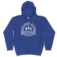 "Oregon Born ""Quality Apparel 2"" in White - Kids Hoodie - Oregon Born"