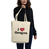 """I Heart Oregon"" - Eco Tote Bag - Oregon Born"