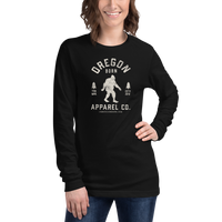 Oregon Born Apparel Co. w/ Bigfoot - Unisex Long Sleeve Tee - Oregon Born