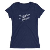 Oregon Born 'Slant Script' - Ladies' Short Sleeve T-Shirt - Oregon Born