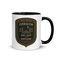 GET OUT AND EXPLORE - Mug with Color Inside