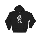 'Oregon Born Bigfoot' in White - Hooded Sweatshirt