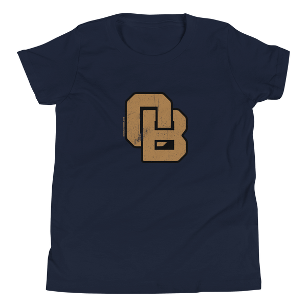 Oregon Born Monogram - GOLD STANDARD - Youth Short Sleeve T-Shirt