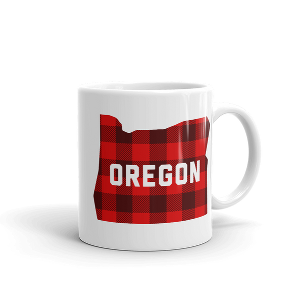 "Oregon ""Buffalo Plaid"" - Mug - Oregon Born"