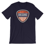 "Oregon Born ""Vintage Shield"" - Short-Sleeve Unisex Tee"