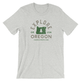 """Explore Oregon"" - Short-Sleeve Unisex T-Shirt - Oregon Born"