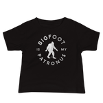 """Bigfoot Is My Patronus"" - Baby Jersey Short Sleeve Tee - Oregon Born"