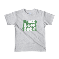 "Oregon Born ""Handcrafted"" in Green - Short Sleeve Kids T-Shirt - Oregon Born"