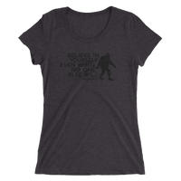 """Believe in Yourself"" (Black) Ladies' Short Sleeve Tee - Oregon Born"