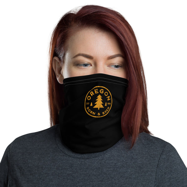 Oregon Born & Bred (Yellow) - Neck Gaiter - Oregon Born