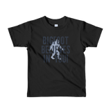 """Bigfoot Believes In You!"" - Short Sleeve Kids T-Shirt - Oregon Born"