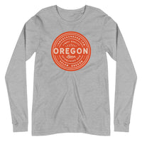 FINEST QUALITY (ORANGE) - Unisex Long Sleeve Tee - Oregon Born