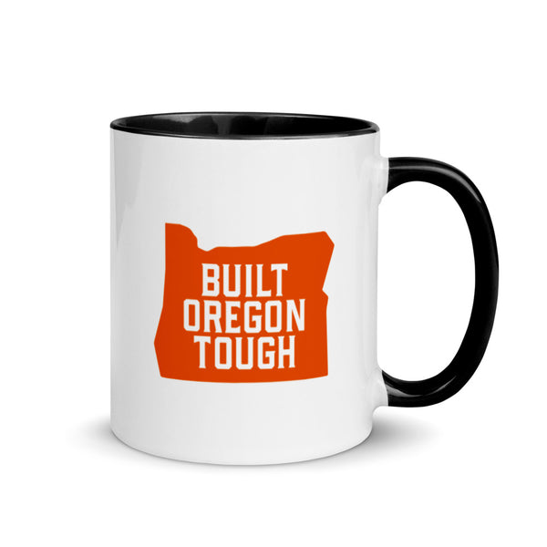 BUILT OREGON TOUGH (ORANGE) - Mug with Color Inside