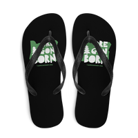 "Oregon Born ""Handcrafted"" in Green - Flip-Flops - Oregon Born"