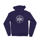 'Oregon Born' Round Logo in White - Zip Hoodie - Unisex - Oregon Born