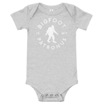 """Bigfoot Is My Patronus"" - Onesie - Oregon Born"