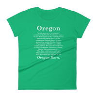 "Oregon ""Defined"" - Women's Short Sleeve T-Shirt - Oregon Born"