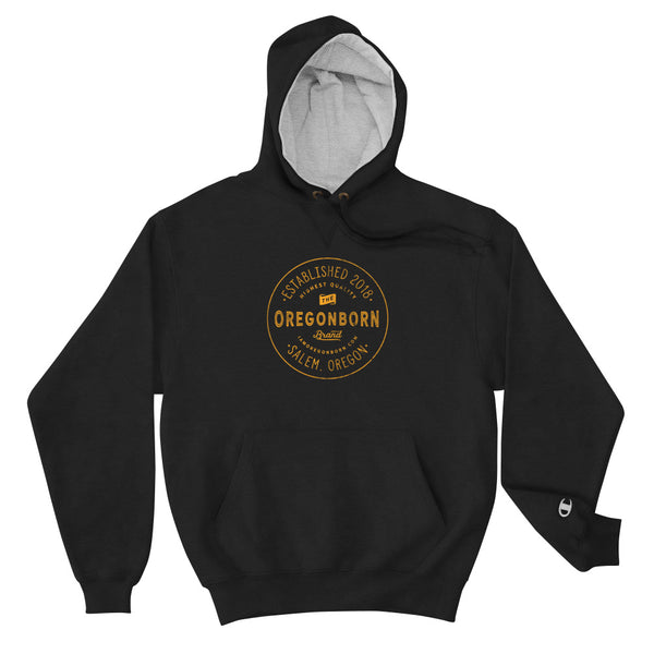 Oregon Born Est. 2018 ( In Yellow ) - Champion Hoodie - Oregon Born