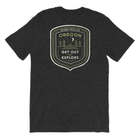 "Oregon Born - ""Get Out and Explore 3"" - (Back Design) Short-Sleeve Unisex T-Shirt - Oregon Born"