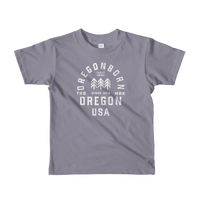 Oregon USA - Short Sleeve Kids Tee - Oregon Born