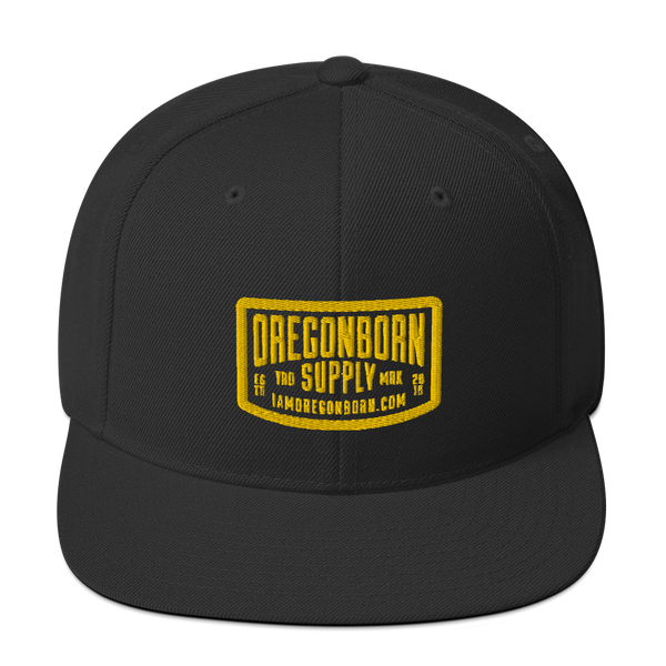 Oregon Born Supply - Snapback Hat - Oregon Born