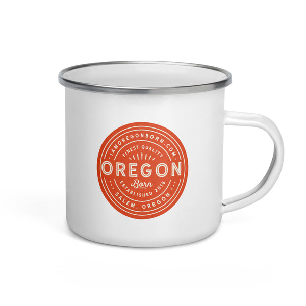 FINEST QUALITY (ORANGE) - Enamel Mug - Oregon Born