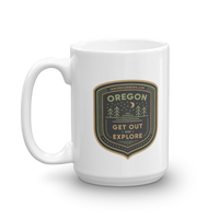 "Oregon Born - ""Get Out and Explore 2"" - Mug - Oregon Born"