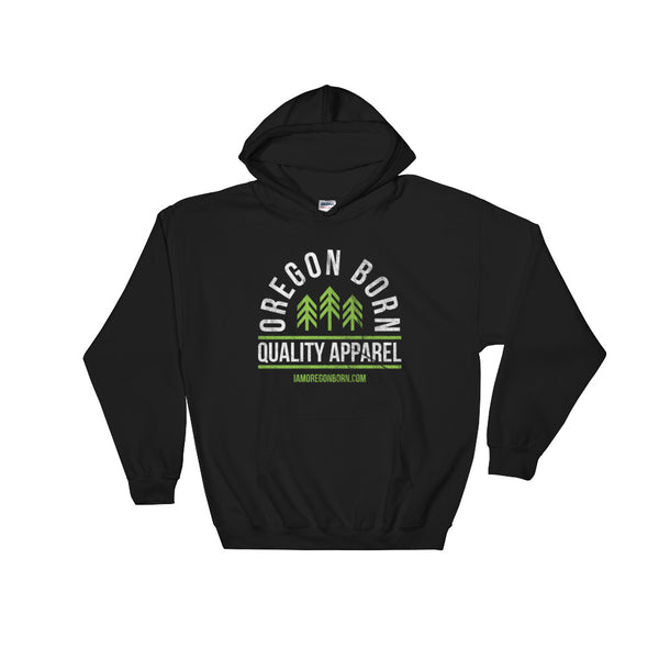 "Oregon Born ""Quality Apparel 2"" in Green & White - Hooded Sweatshirt - Oregon Born"