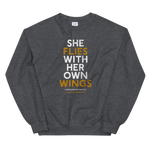 """She Flies"" State Motto with Wings - Sweatshirt - Oregon Born"