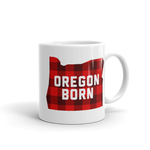 "Oregon Born ""Buffalo Plaid"" - Mug - Oregon Born"