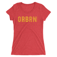 "Oregon Born ""ORBRN"" in Yellow - Ladies' Short Sleeve Tee - Oregon Born"