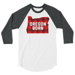 "Oregon Born ""Buffalo Plaid"" -  3/4 Sleeve Raglan Shirt - Oregon Born"